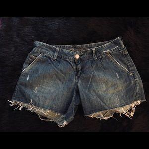 AE Frayed Jean Shorts